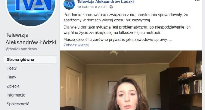 Para w czasie izolacji- materiał do TV Aleksandrów