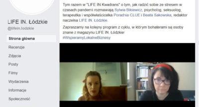 """mgr Sylwia Bikiewicz o pandemii z perspektywy czasu w """"Life in kwadrans"""""""